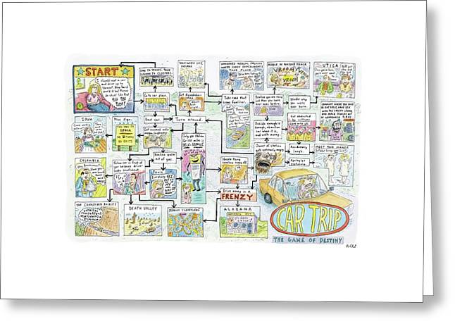 Car Trip Greeting Card by Roz Chast