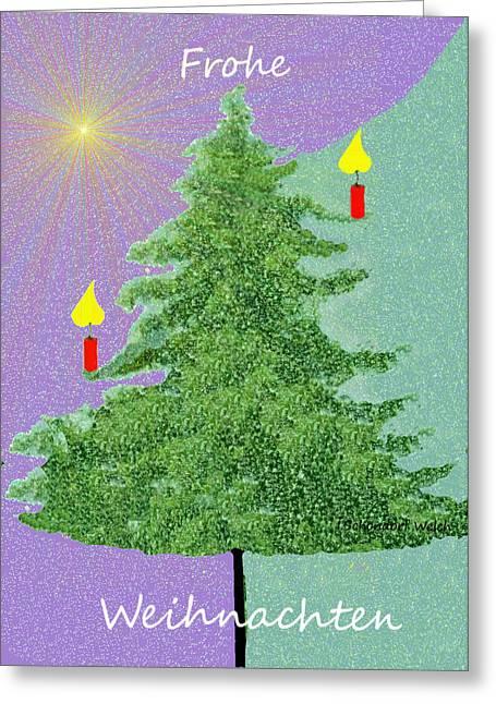 791 -  Frohe Weihnachten Greeting Card by Irmgard Schoendorf Welch