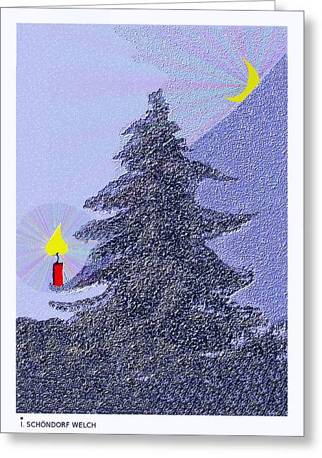 792 -  Lonely Candle  Greeting Card by Irmgard Schoendorf Welch