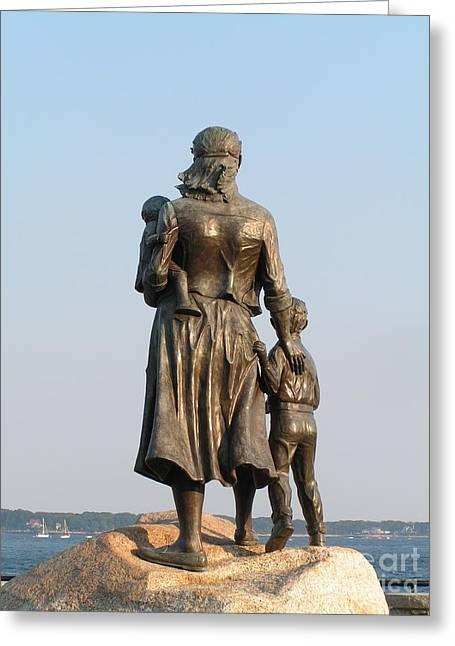 #796 D333 Fishermen's Wives Memorial 2001 Gloucester Massachusetts Back Side Greeting Card