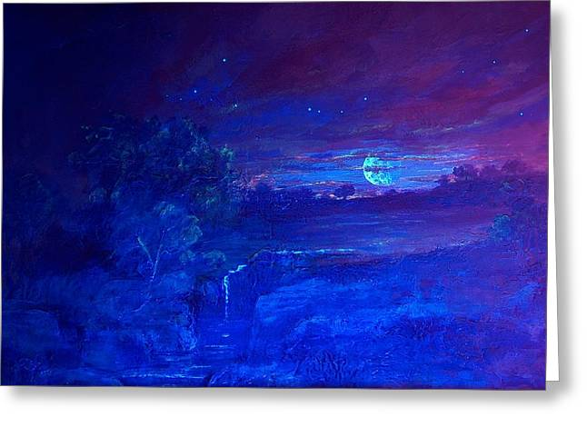 Greeting Card featuring the painting  Cosmic Light Series  by Len Sodenkamp