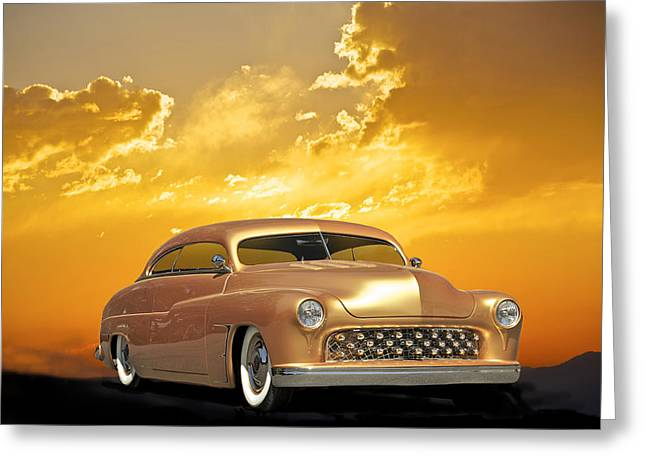 1950 Mercury Custom Greeting Card by Dave Koontz