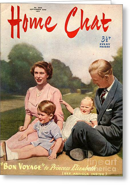 1950s Uk Home Chat Magazine Cover Greeting Card by The Advertising Archives