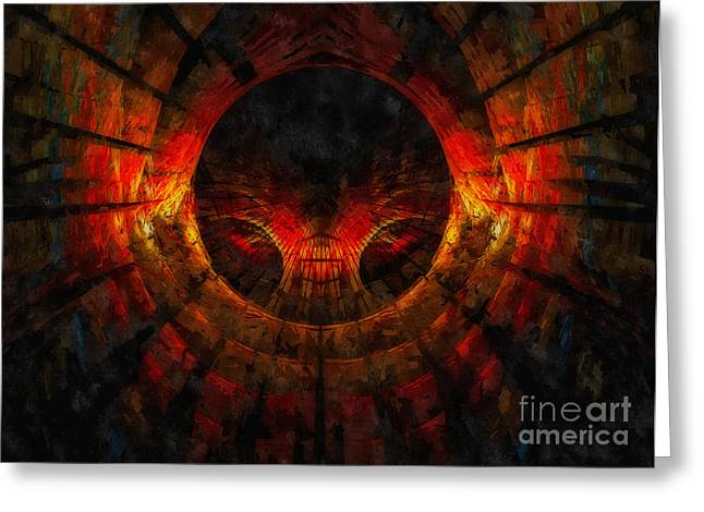 A Digital Painting Of Abstract Colouful Shapes Greeting Card
