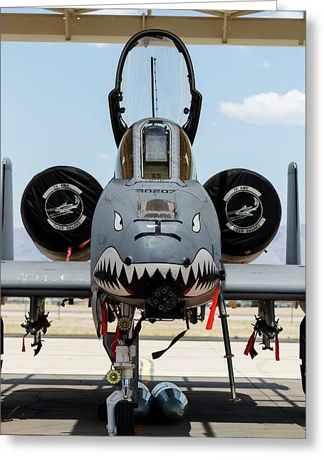 A U.s. Air Force A-10 Thunderbolt II Greeting Card by Rob Edgcumbe