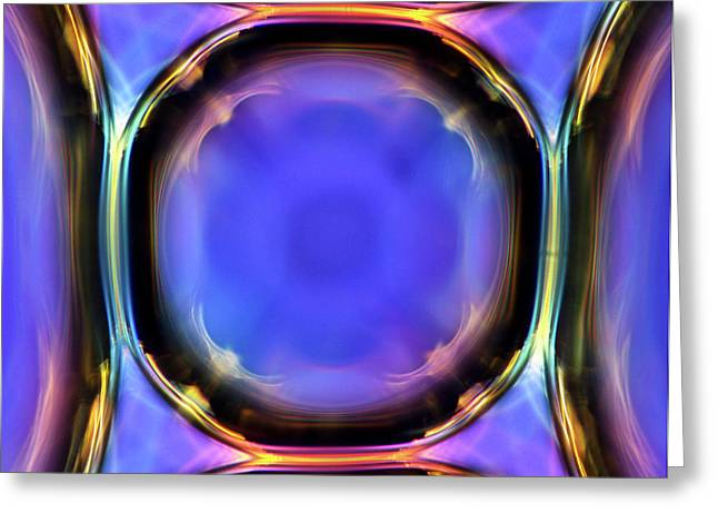 Air Bubbles In Liquid Greeting Card by Marek Mis