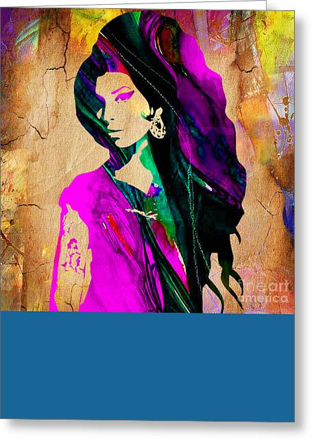 Amy Winehouse Collection Greeting Card by Marvin Blaine