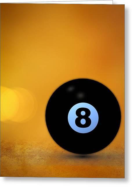 8 Ball Greeting Card by Bob Orsillo