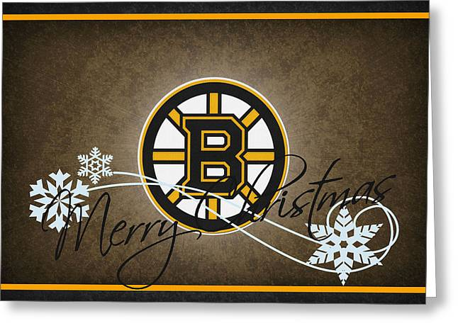Boston Bruins Greeting Card by Joe Hamilton