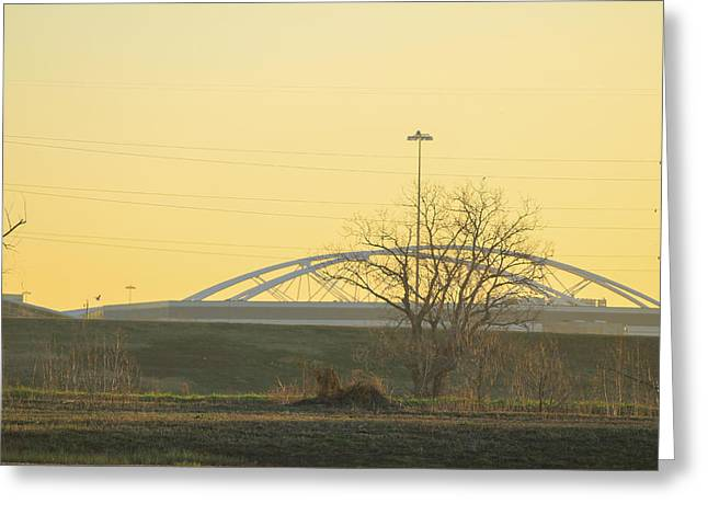 Bridges Greeting Card by Tinjoe Mbugus