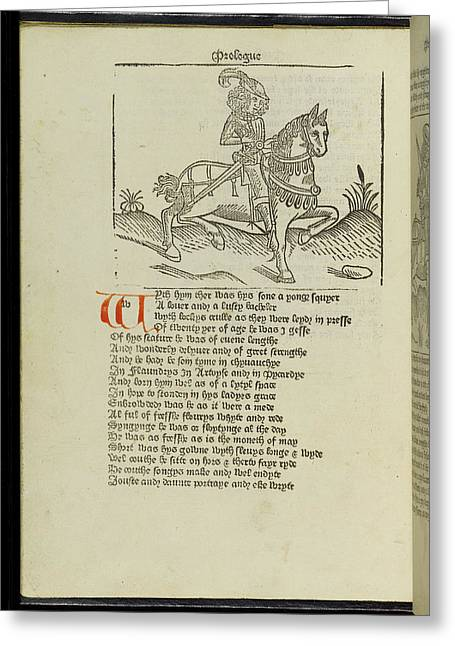 Canterbury Tales Greeting Card