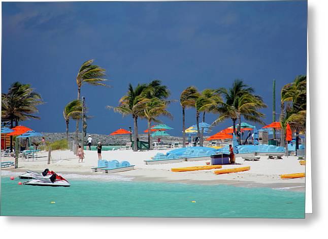 Caribbean, Bahamas, Castaway Cay Greeting Card