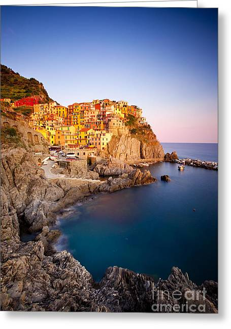 Cinque Terre Greeting Card by Brian Jannsen