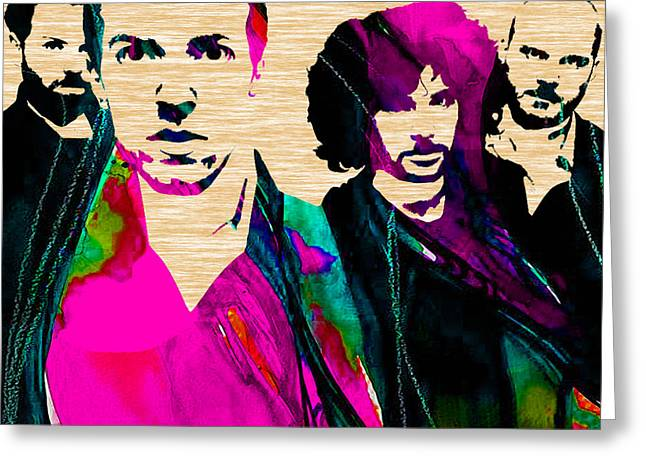 Coldplay Collection Greeting Card by Marvin Blaine