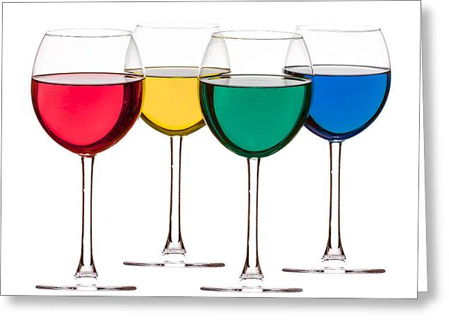 Colorful Drinks Greeting Card