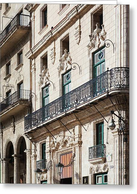 Cuba, Havana, Havana Vieja, Plaza De Greeting Card by Walter Bibikow