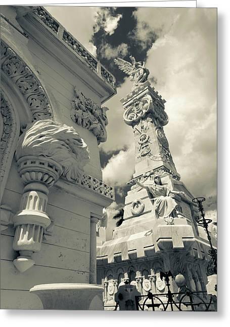 Cuba, Havana, Vedado, Necropolis Greeting Card by Walter Bibikow