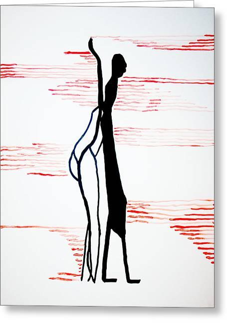 Dinka Lady - South Sudan Greeting Card by Gloria Ssali