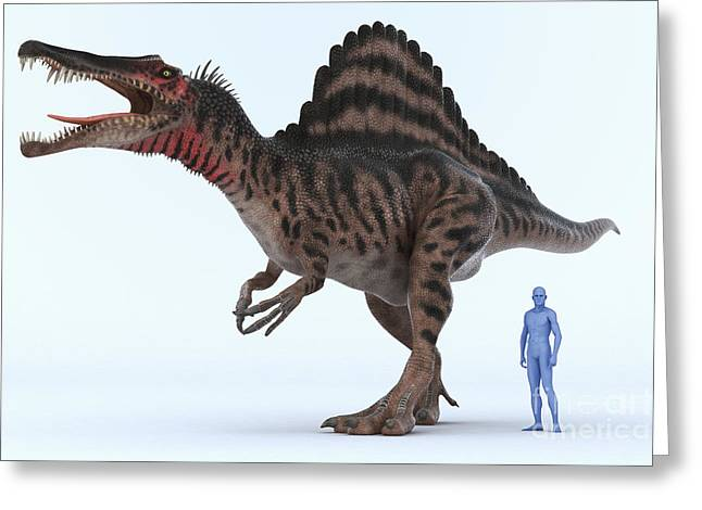 Dinosaur Spinosaurus Greeting Card