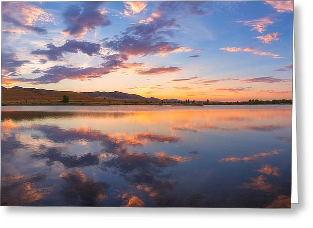 8 Dollar Sunset Greeting Card by Darren  White