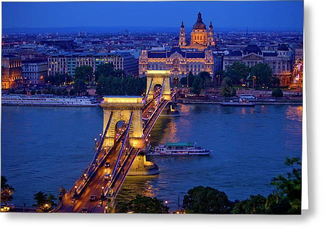 Europe, Hungary, Budapest Greeting Card