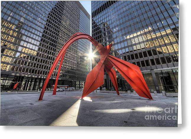 Federal Plaza  Greeting Card by Twenty Two North Photography