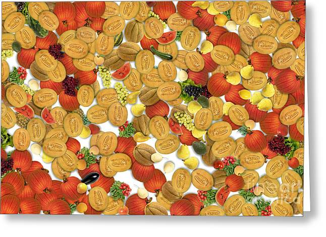 Fruit And Vegetable Greeting Card