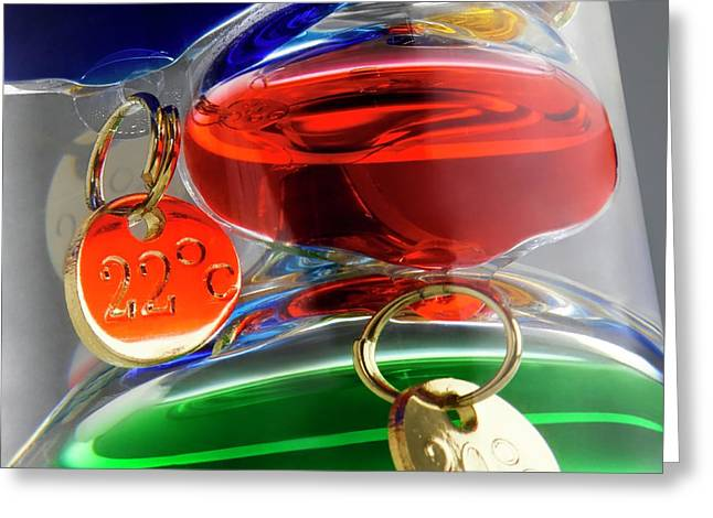 Galileo Thermometer Greeting Card