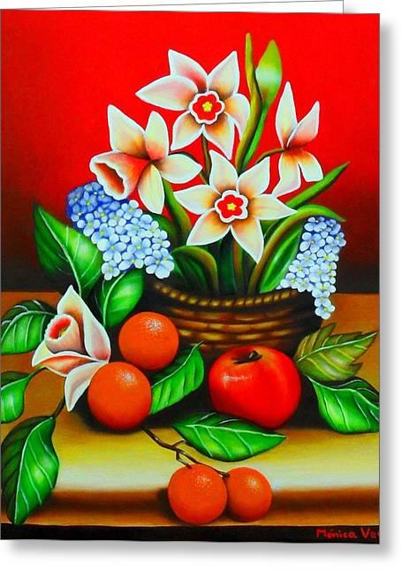 Garden Delights Greeting Card by Monica  Vega