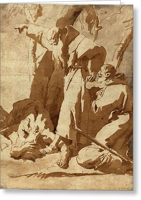 Giovanni Battista Tiepolo, Italian 1696-1770 Greeting Card by Litz Collection