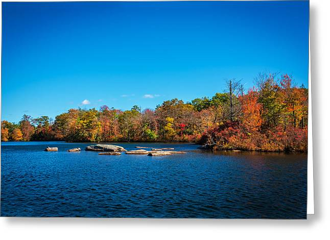 Green Pond Morris County New Jersey Painted Greeting Card by Rich Franco