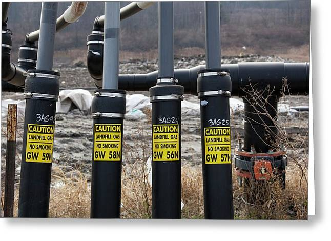 Landfill Gas Recovery Well Greeting Card by Jim West