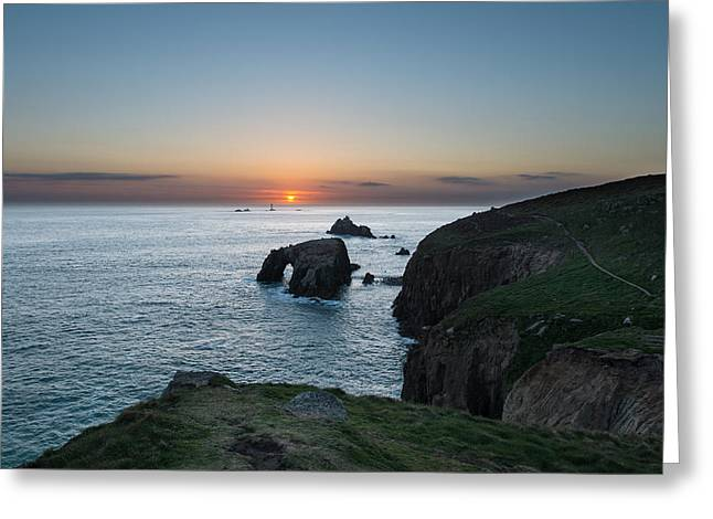 Lands End Greeting Card by Ollie Taylor