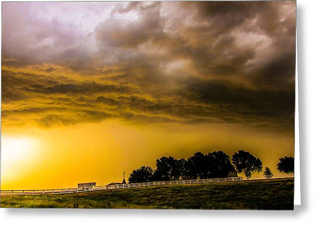 Late Afternoon Nebraska Thunderstorms Greeting Card
