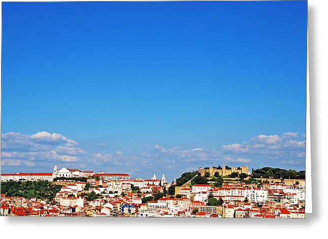 Lisbon Cityscape Greeting Card by Luis Alvarenga
