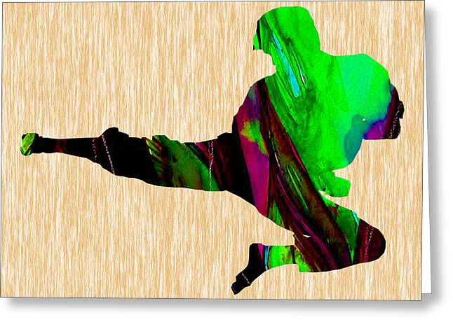Martial Arts Karate Greeting Card by Marvin Blaine
