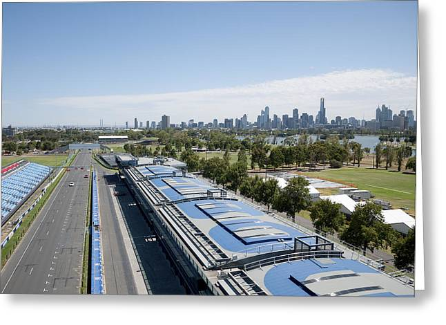Melbourne Grand Prix Circuit, Albert Greeting Card