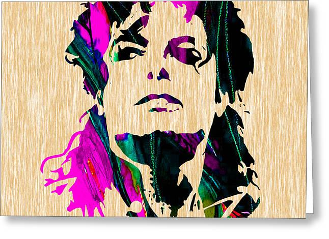 Michael Jackson Painting Greeting Card