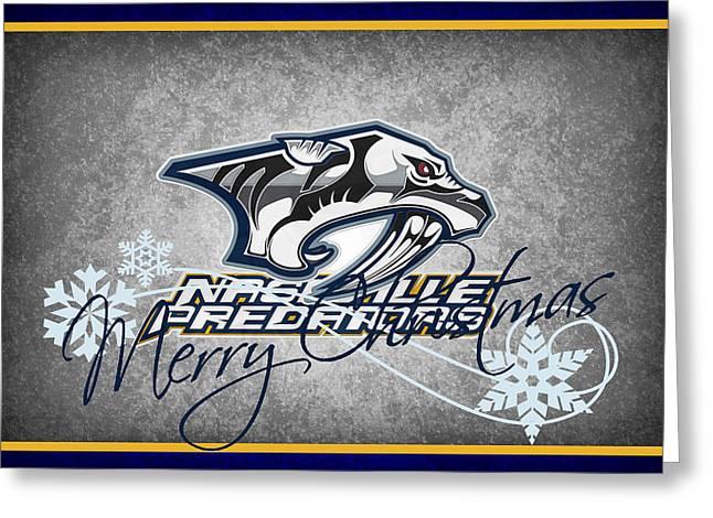 Nashville Predators Greeting Card by Joe Hamilton