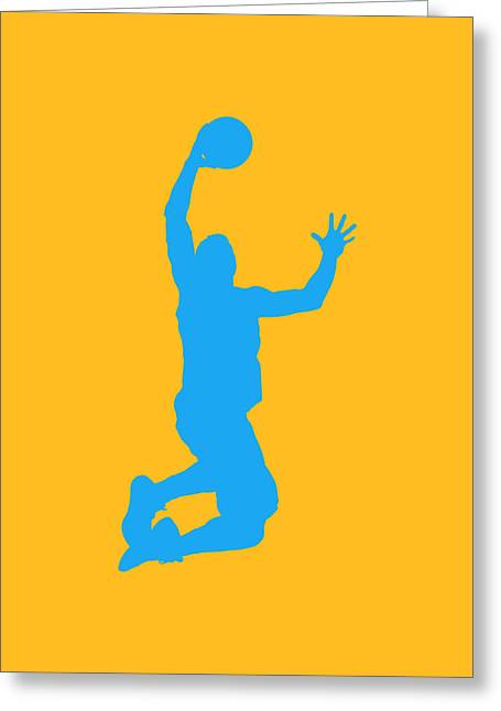 Nba Shadow Players Greeting Card
