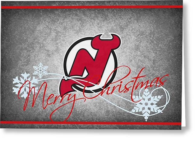 New Jersey Devils Greeting Card by Joe Hamilton