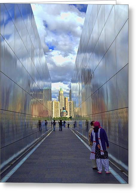 New Jersey Empty Sky 9-11 Memorial Greeting Card by Allen Beatty