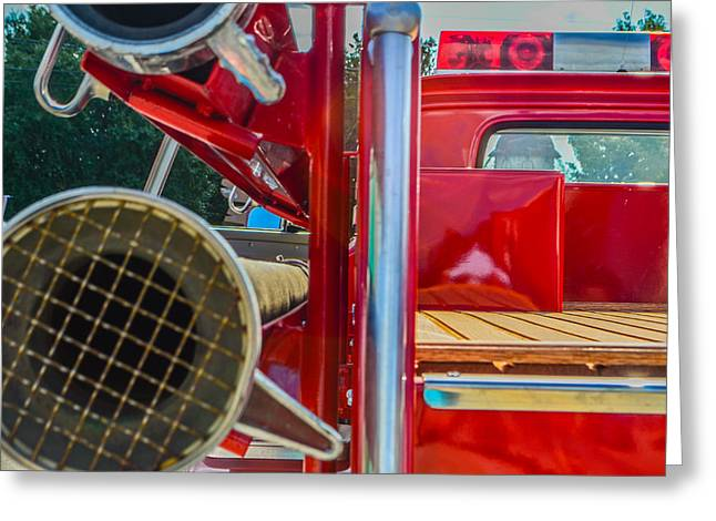 Ole Time Fire Truck Series Greeting Card by Kelly Kitchens