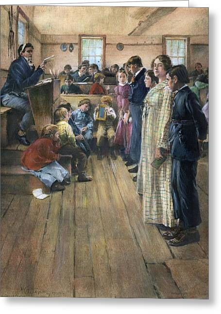 One-room Schoolhouse Greeting Card