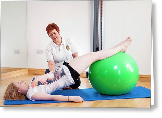 Physiotherapy Session Greeting Card by Dan Dunkley