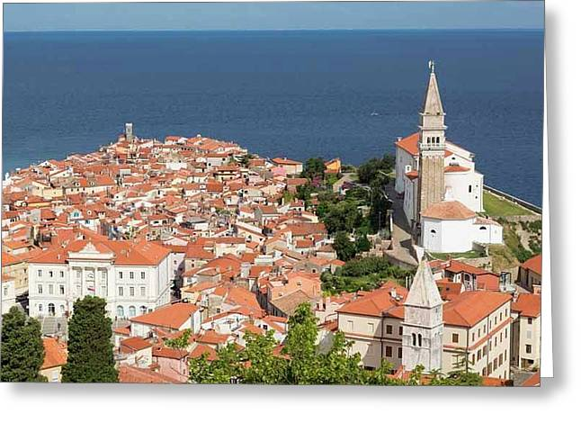 Piran, Slovenia Greeting Card