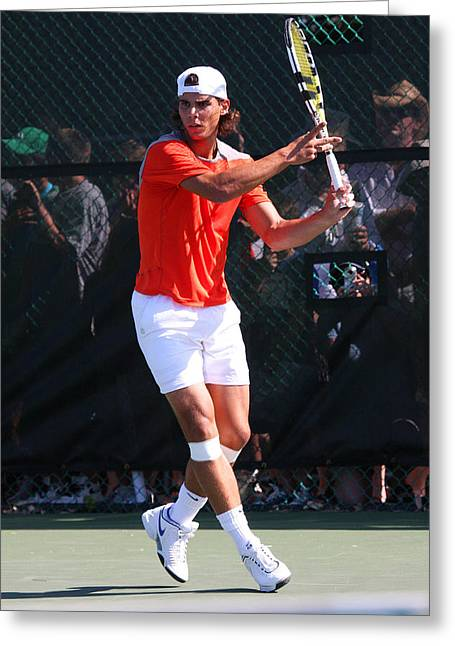 Rafael Nadal	 Greeting Card by James Marvin Phelps