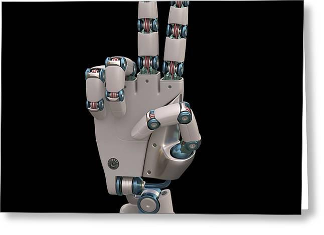 Robotic Hand Greeting Card