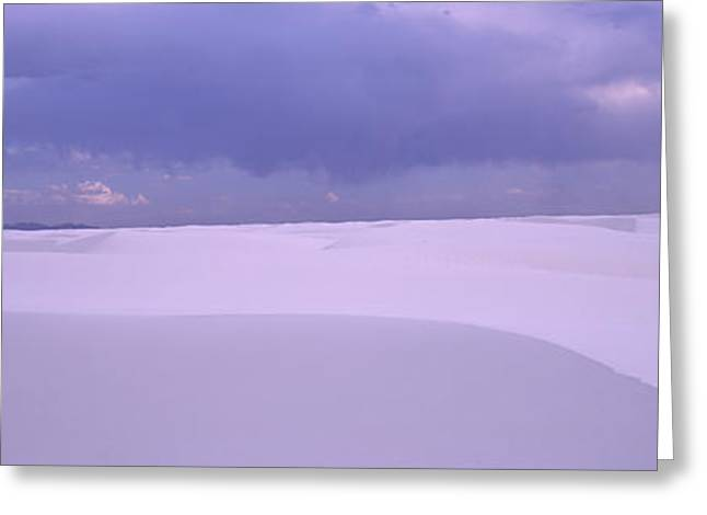 Sand Dunes In A Desert, White Sands Greeting Card