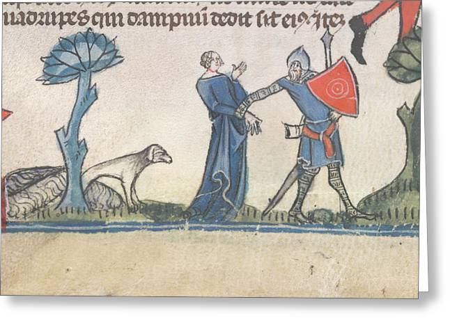 Smithfield Decretals Greeting Card by British Library